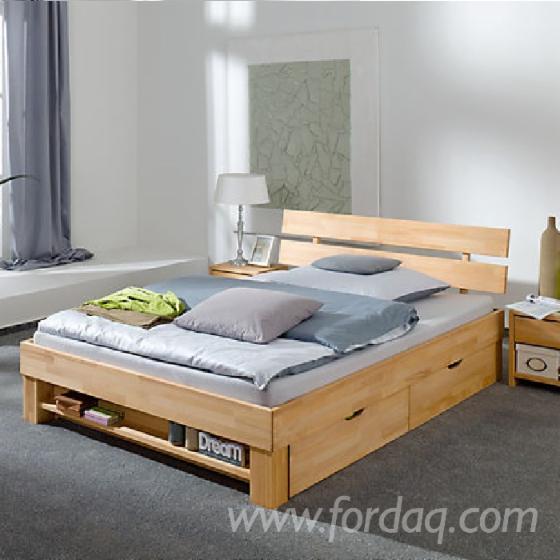 "Oak ""Queen Slash"" Beds - Contemporary Style, FSC"