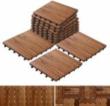 Find best timber supplies on Fordaq - Moc Phuoc Sanh Deck Tiles - Acacia Anti-Slip Decking Tiles, 12x300x300