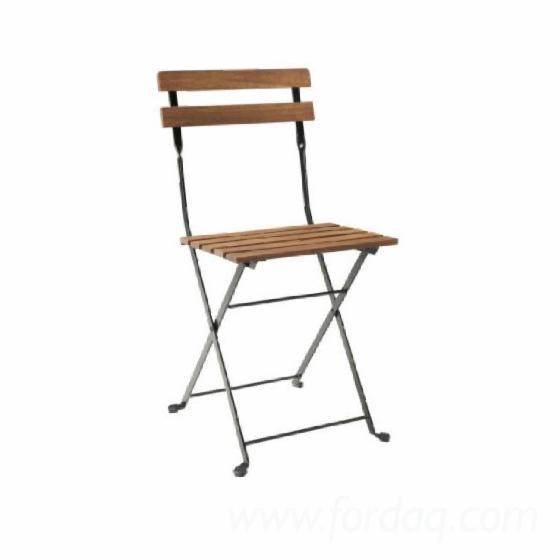 Acacia Garden Foldable Chairs, 39x40x79 cm