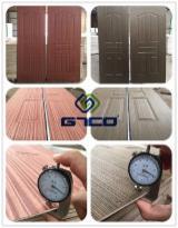 Red Wood MDF Door Skin for Interior Door