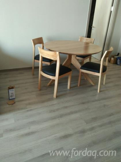Wood Chair and Table from Ash, Oak, Rubber