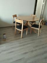 Wood Chair and Table from Ash, Oak, Pine, Rubberwood