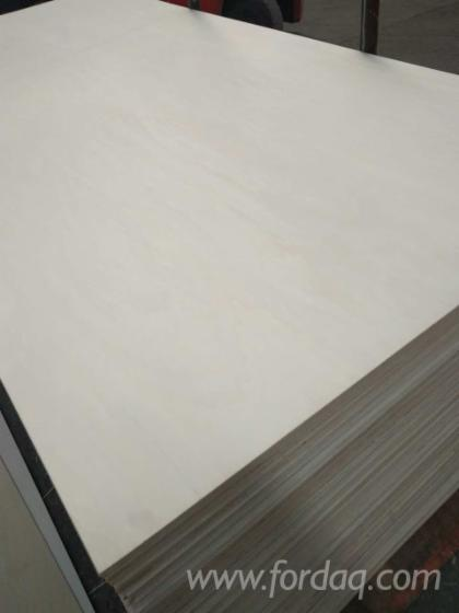 White Bleached Poplar Core Plywood, 2-21 mm