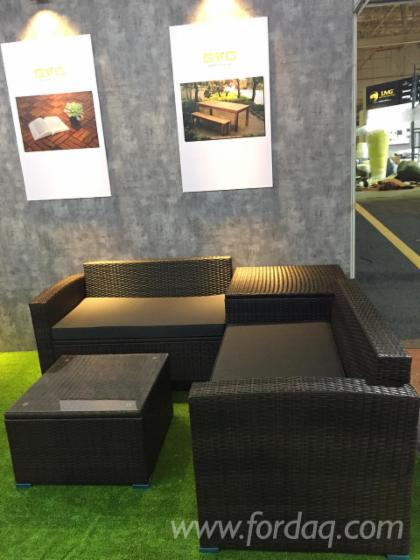 Outdoor Leisure Rattan Sofa Set, 4 pcs