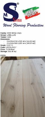 Lamella rovere rustic dimensioni 4x145/150x1400-2200 mm