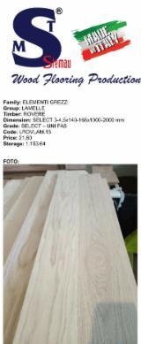 Lamelle rovere select dimensioni 3,2x170x820-2020 mm
