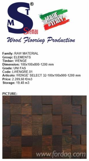 Wenge-Square-Logs--FAS