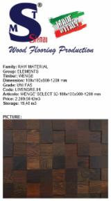 Wenge Square Logs, FAS, 100x100 mm