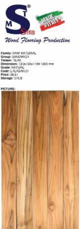 Teak Select Flooring (Sandwich), 12/3x125 mm