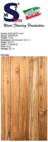 Teak Select Flooring (Sandwich), 9/3x100 mm