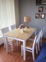 Rubberwood Dining Set (Chair and Table)