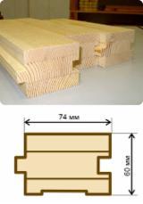 Pine Wood Flooring (3-Strip Wide), 60x80 mm