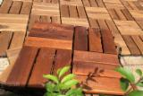 Acacia Interlocking Garden Wood Deck Tile, 300x300 mm