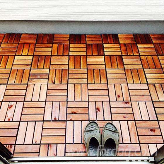 Acacia Garden Wood Tiles (Brown), 19 mm