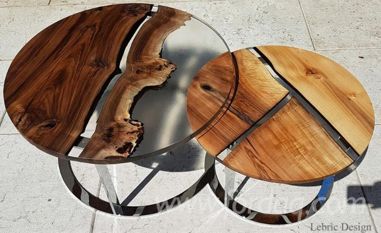 Wood and Epoxy Resin Tables, 100 pcs./spot