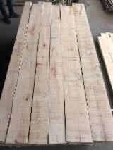 KD Ash Unedged Lumber, Barked, AB Grade, 26 mm