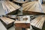 Wholesale of old wood table tops, recycled wood, old oak wood, wagon boards, epoxy resin