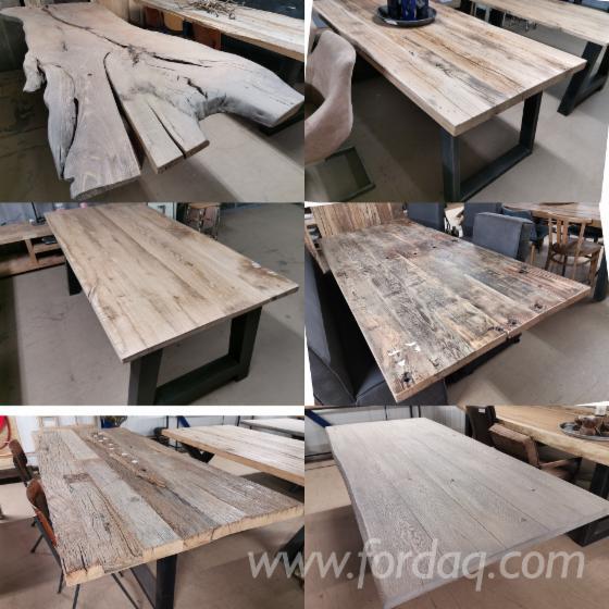 Groothandel-in-tafelbladen-van-oud-hout--gerecycled-hout--oud-eikenhout--wagonplanken