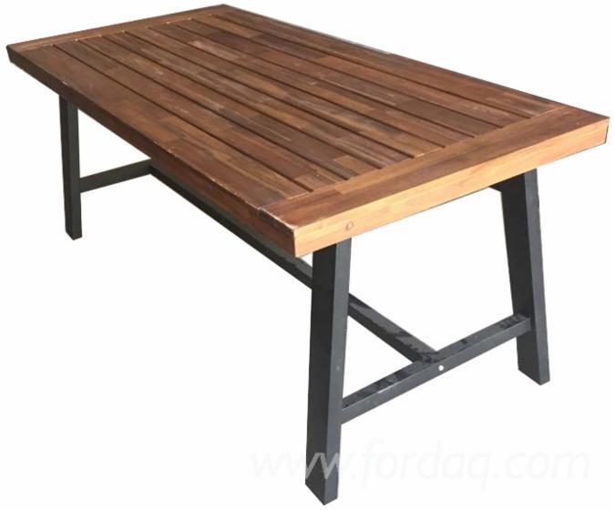 Acacia Wood Dining Set (3-Pieces), DIY Assembly