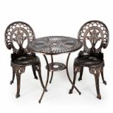 3 pcs Outdoor cast aluminum bistro set
