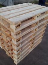 Avaliable New/Used Fir/Pine Pallets, 800x1200 mm