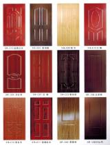 MDF Plywood Molded Melamine Door Skin Panels, 2.7-4.2 mm