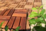 DIY Acacia interlocking deck tile for outside furniture/ garden. patio/ swimming pool