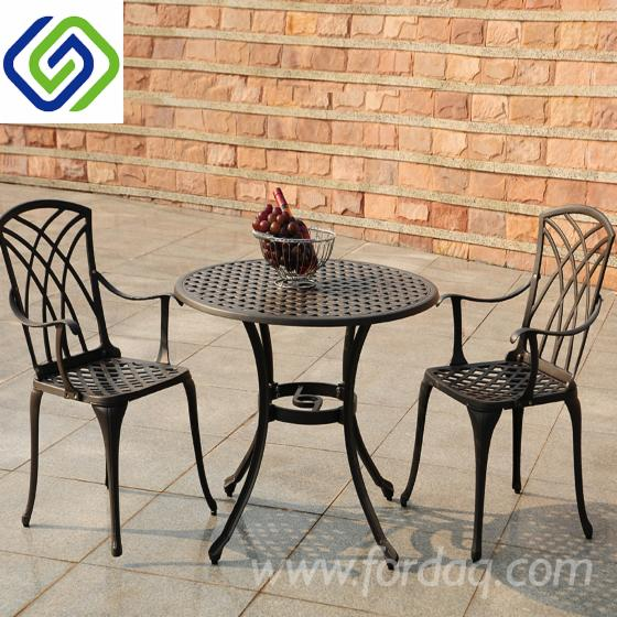 Five-Pieces Cast Aluminum Outdoor Dining Set