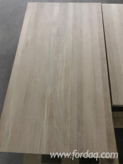1-Schicht-Massivholzplatten--Buche--Eiche