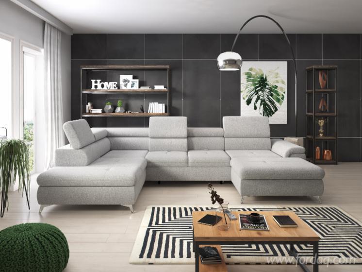 Monk XL Living Room Sofa, Pine Wood
