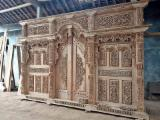 null - Teak Gebyok Traditional Carving Home Decoration, 3x2.65 m