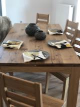 Vend Ensemble Table Et Chaises Pour Salle À Manger Traditionnel Feuillus Européens Chêne
