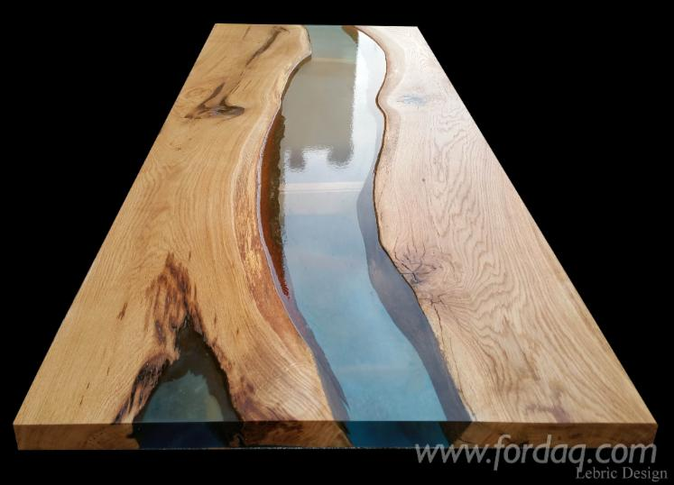 Wood + Epoxy Resin Tables - Design Style