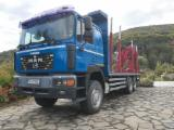 null - Camion forestier MAN 6x6 transport busteni cu macara LogLift 135 Z