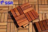 Vietnam Acacia Wood Deck Tiles, 19/24 mm