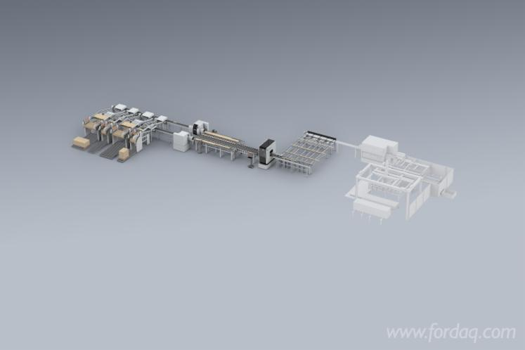New Luxscan Weinig Cutting Line with Scanner and Crosscut Saws