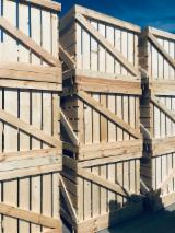 Pallets, Packaging And Packaging Timber - New Pine Boxes, ISPM 15, 500 pcs./month