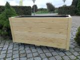 Donice drewniane Donice drewniane Drewno robinia akacjowa Masywne drewniane skrzynie