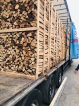 KD Birch Oak,Hornbeam,beech Cleaved Firewood, 25/33 cm,10-15 cm on pallets 100 x 100 x180 split 10/15 cm 33/50