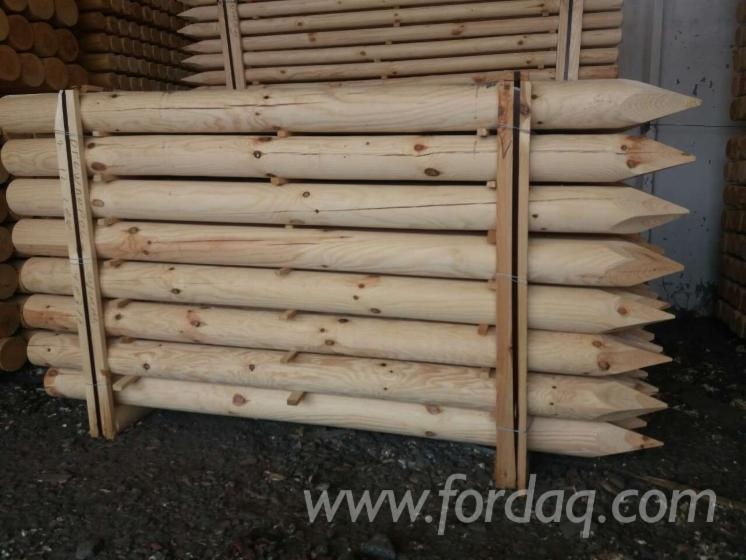 Vender Madeira Redonda Aparada De Forma Cilíndrica Pinus - Sequóia Vermelha FSC Belorussia