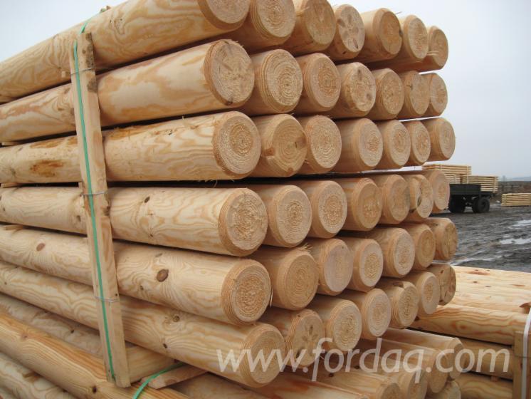 Słupy, Palisady, Pale, Sosna Zwyczajna - Redwood, FSC