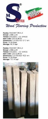Pavimenti Ingegnerizzati a Più Strati - Lamelle Doussie Nature 3.2x100-150x620-1620 mm