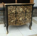 Mahogany French Style Hand Carved Two Drawers Commode