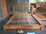 Teak Wood Headboard Upholstery Modern King Size Bed