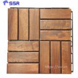 Acacia Wood Deck Tiles, 8-12% Humidity