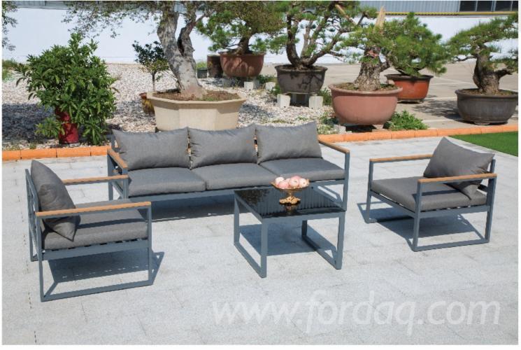 Outdoor-Patio-Aluminum-L-Shaped-Sofa-Set-Black