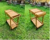 Furniture and Garden Products - Garden Furniture - Acacia Tea Trolley (Design Style), Natural Oil Finish