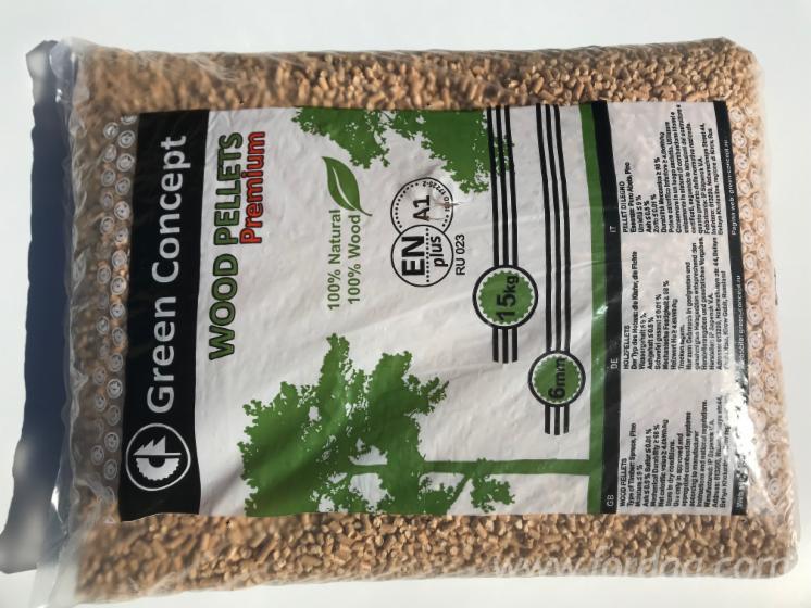 GreenConcept RU-023 Wood Pellets (15 kg/bags)