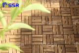 Acacia Wood Garden Deck Tiles, 19-24 mm
