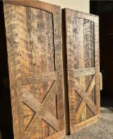 Barn Door Made from Reclaimed Pine Wood